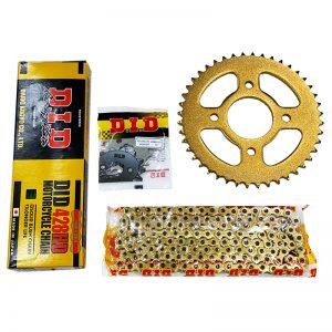 Nhông Sên Dĩa DID Vàng Winner 150 Gold Japan (Sên Vàng/Dĩa Vàng)✅Chính hãng DID Nhật Bản ✅Sên Nhông Dĩa Winner 428HDS-132RB 15Tx44T giá tốt nhất.